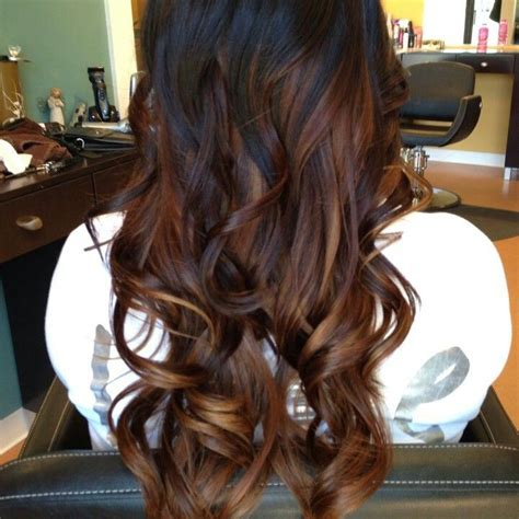 dark brown hair with light brown ombre dark brown ombre hair beauty pinterest