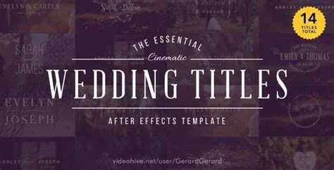 after effects projects download wedding titles free