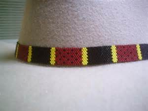 Native American Beaded Hat Bands Snake