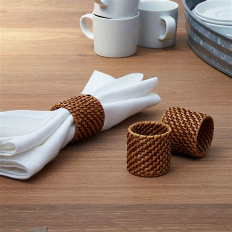artesia honey rattan napkin ring reviews crate  barrel
