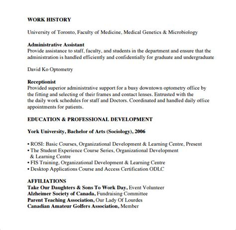 sle office assistant resume 9 free