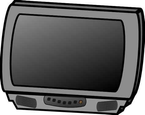 small flat panel lcd television clip art  clkercom