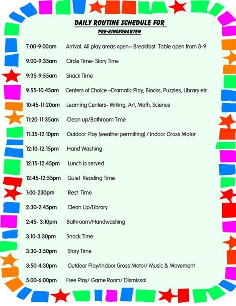 daily schedule for toddlers daily schedule for preschool 292 | 63af3ff06256625c6af43be548fd0080