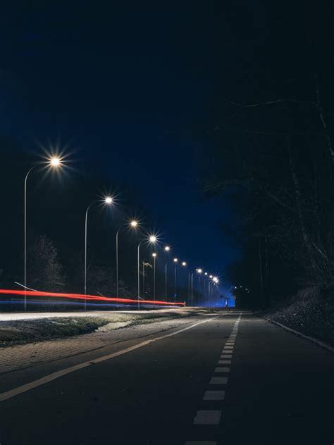 images road night highway asphalt dark