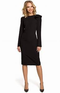 black long sleeves pencil dress me326n idresstocode With robe longue manches longues