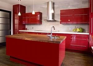 cuisine rouge et grise qui incarne lidee dune vie moderne With good meuble ilot central cuisine 3 idee couleur cuisine la cuisine rouge et grise