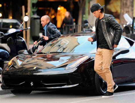 mesut ozil fined  double parking  ferrari