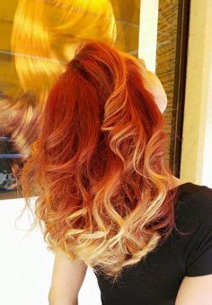 fire red orange ombre hair images   hair
