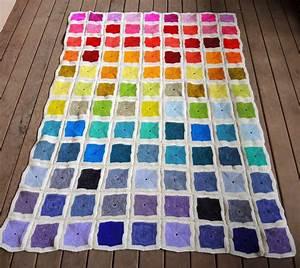 Decke Stricken Patchwork : patchworkdecke stricken aus bunten quadraten ~ Watch28wear.com Haus und Dekorationen