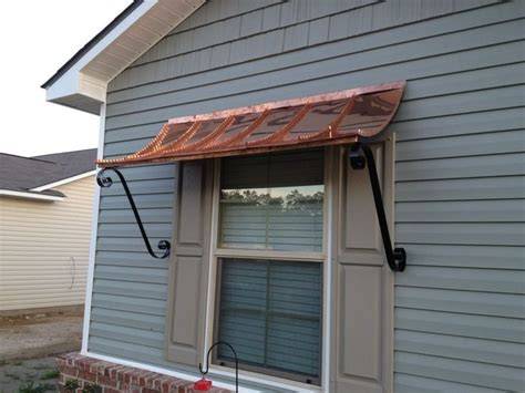 ft curved copper window  door awning  decorative scrolls door awnings window