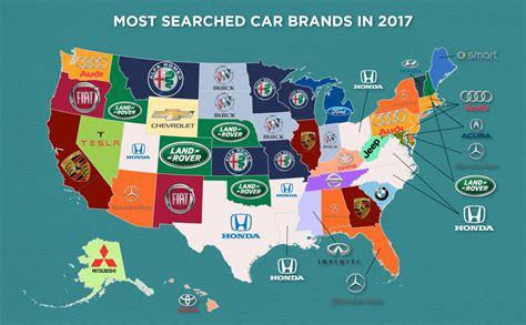 What Is The Most Popular Car In Each State This Map