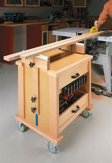 roll  shop cart woodworking project woodsmith plans