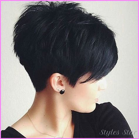 black short haircuts front and back stylesstar com