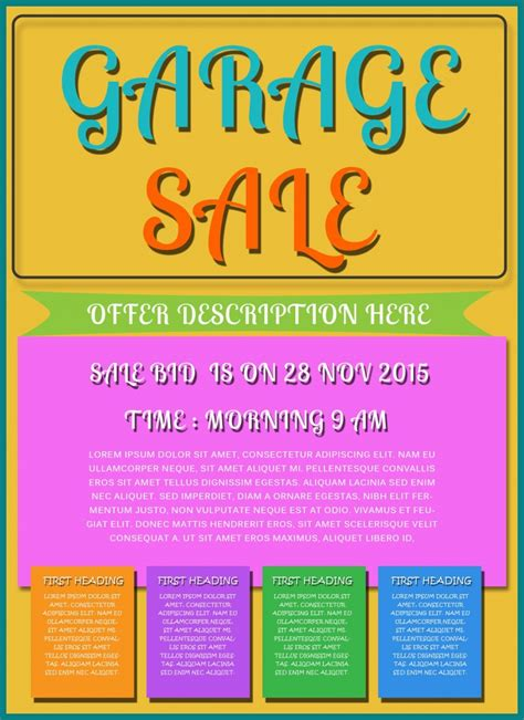 sales flyer template free printable garage sale flyers templates attract more customers demplates
