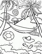 Coloring Beach Pages sketch template