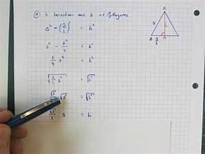 Wie Berechnet Man Die Höhe Eines Dreiecks : seite s aus der h he im gleichseitigen dreieck berechnen youtube ~ A.2002-acura-tl-radio.info Haus und Dekorationen
