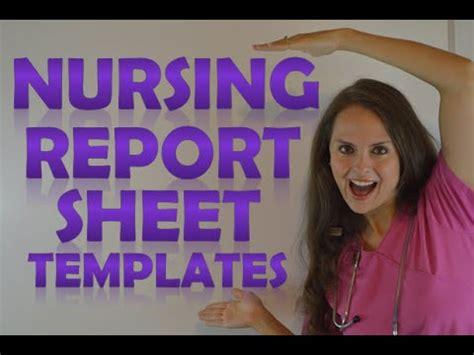nursing shift report sheet templates   give