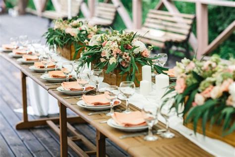 dining table decorations ideas the best personal touches for a rustic wedding mnn