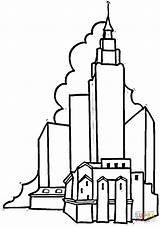 Building Coloring Empire State Skyscraper Buildings Clipart Pages Apartment Houses Capitol Printable Cliparts Clip Library Getcolorings Designlooter States Skyscrapers Favorites sketch template