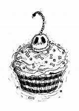 Cupcake Tattoo Jack Tattoos Designs Deviantart Inks Anarch Skelling Coloring Skellington Christmas Drawing Nightmare Cute Before Cupcakes Pages Disney Food sketch template