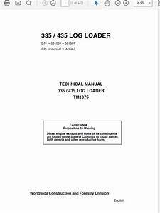 John Deere 4105 Compact Utility Tractors Technical Ma