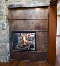 stainless steel fireplace surround Volcanic Stainless Steel Fireplace surround - Contemporary ...