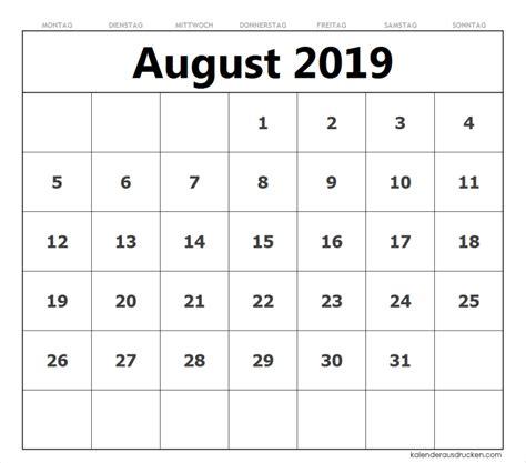 kalender august