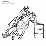 Barrel Racing Horse Coloring Clipart Pages Racer Drawing Clip Line Cliparts Own Library sketch template
