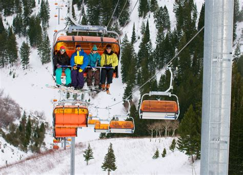 canyons resort opens heated chairlift the salt