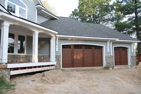 black garage doors on brick house back door paint colors matching front and what color to