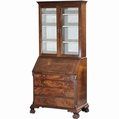 Antique English Secretary Desk Cabinet 18th Century