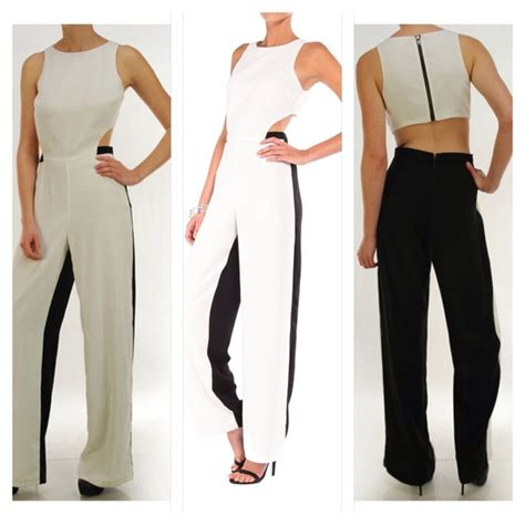 white and black jumpsuit black and white jumpsuit s from aklassic 39 s closet on poshmark