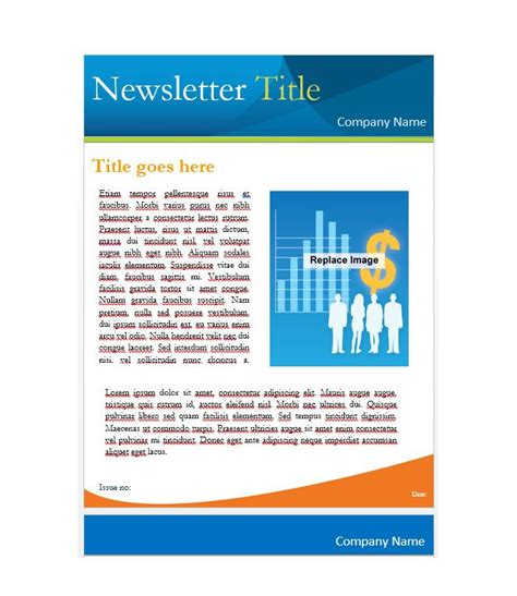 newsletter templates  work school