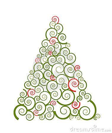 silueta de árbol de navidad silueta remolino 225 rbol de navidad foto de archivo libre de regal 237 as imagen 16900995