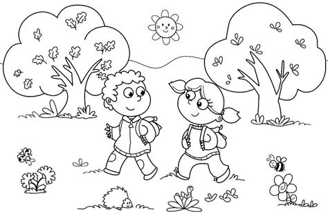 coloring pages  kindergarten kids gianfredanet