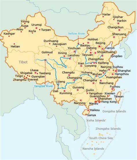 china map itinerary