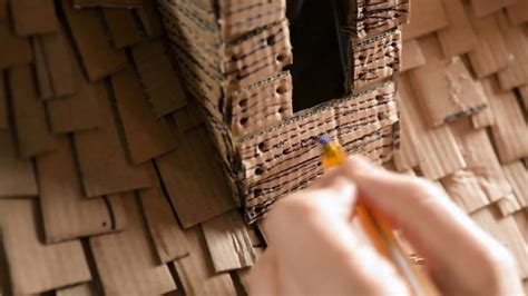 awesome diy witch house    cardboard boxes