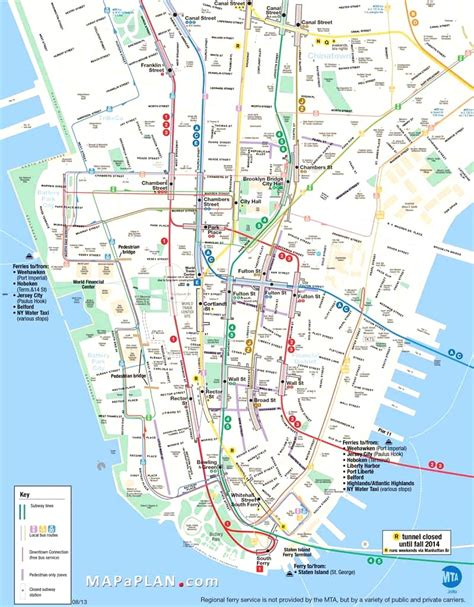 printable map  manhattan printable maps