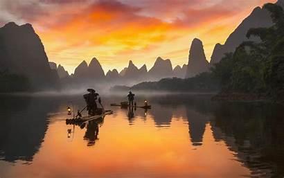 China Li River Yangshuo Landscape Wallpapers Sunrise