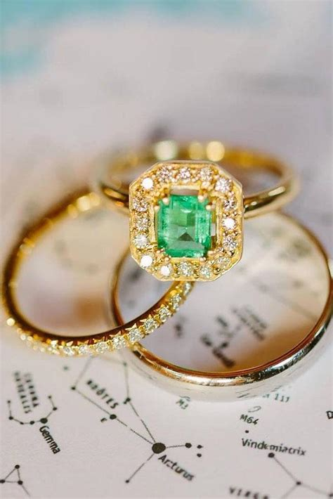 yellow gold engagement rings  pinterest