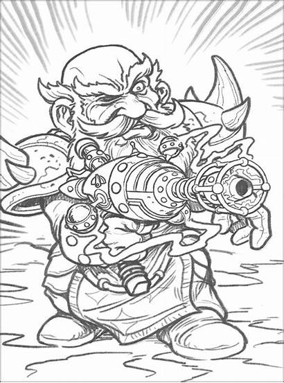 Warcraft Coloring Hearthstone Pages Coloriage Dessin Adult