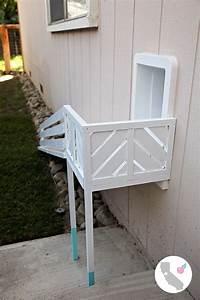 california peach diy dog door ramp With making a dog door
