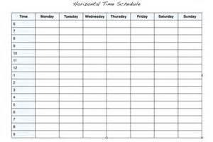Blank Weekly Work Schedule Chart