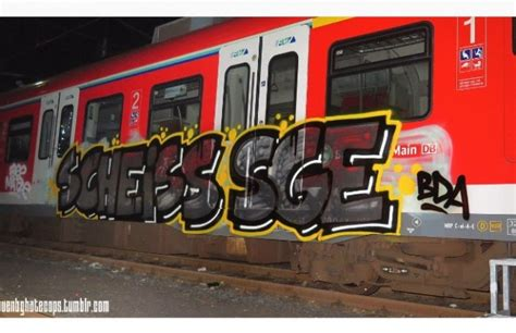 scheiss sge graffitis  frankfurt fanzeit