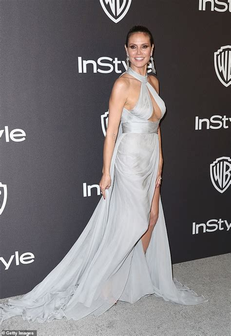 Heidi Klum Gown Wet Golden Globes Party With Tom