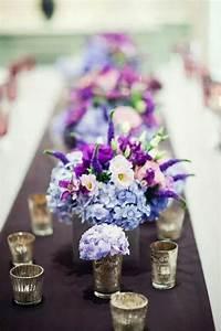 Beautiful light blue purple hydrangea and bright orchid ...