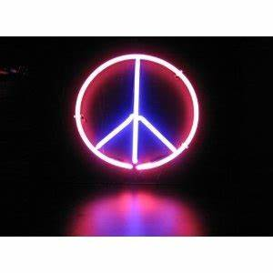 Image Gallery light neon peace sign