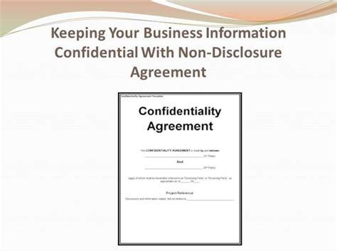 keeping  business information confidential authorstream