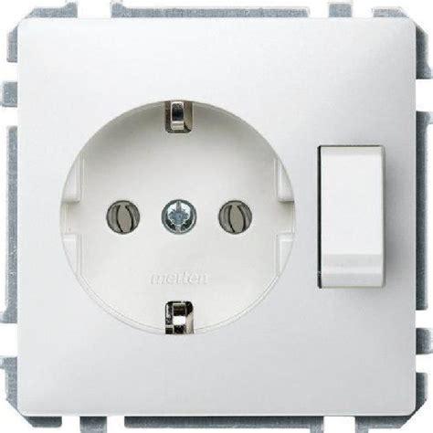 merten 272419 prise schuko avec interrupteur blanc vif achat vente prise les soldes sur