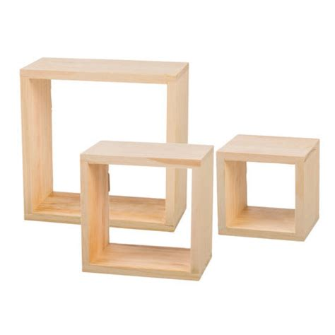 natural unfinished pine wood cube frames set of 3 7 9 quot